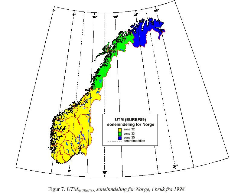 koordinater kart norge Hva er datum koordinater kart norge